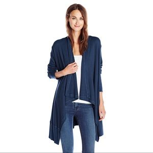 Splendid Navy Thermal Draped Cardigan Long Sleeve